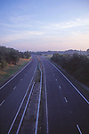 AYBR3E Dual carriageway without traffic at dusk