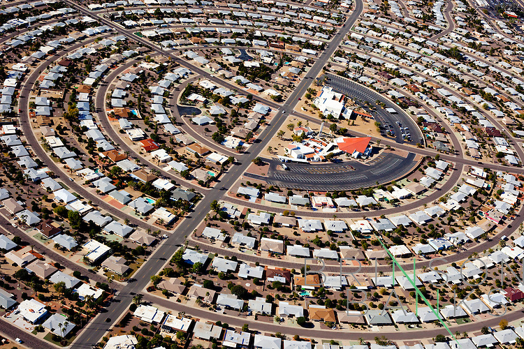An aerial view of Sun City, Arizona, seen December 15, 2009.