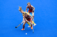 2nd February 2020; Sydney Olympic Park, Sydney, New South Wales, Australia; Womens International FIH Field Hockey, Australia versus Great Britain Women; Susannah Townsend of Great Britain shields the ball from Ambrosia Malone of Australia