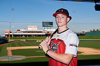 Mac McCommons during the Under Armour All-America Tournament powered by Baseball Factory on January 17, 2020 at Sloan Park in Mesa, Arizona.  (Zachary Lucy/Four Seam Images)