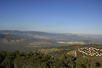 Israel, Lower Galilee. A view of Mitzpe Netofa from Mount Turan