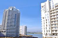 Paris: Creteil--new apartments, artificial lake.