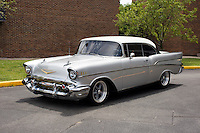 1957 Custom Junior (#107) – 1957 Chevrolet Bel Air 2-Door Hardtop registered to Gene Piel is pictured during 4th State Representative Chevy Show on Thursday, June 30, 2016, in Fort Wayne, Indiana. (Photo by James Brosher)
