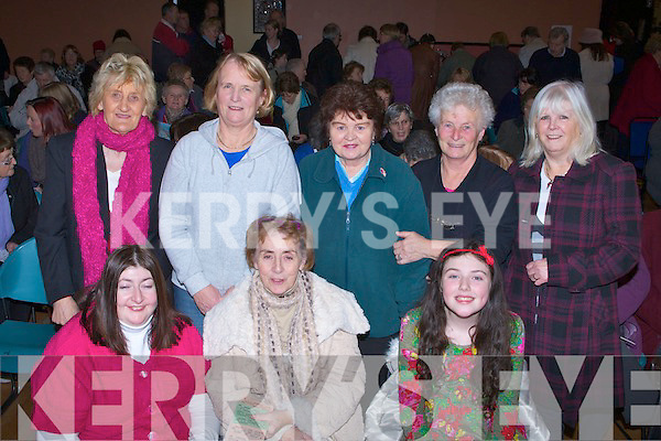 CHECK: Shoiuting out check at the St Pats Monster Bingo in The KDY'S Denny Street, Tralee on Sunday Front l-r: Sinmead O'Donnell, Helen O'Donnell and Molly Clifford. Back Hannah Healy, Elizabeth Costello, Marie Murphy, Helen Lacey and Elizabeth Heaphy.. . ............................... ..........