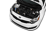 Car Stock 2017 KIA Rio LX-AT 4 Door Sedan Engine  high angle detail view