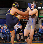 BROOKINGS, SD - NOVEMBER 9:  Shea Nolan from South Dakota State controls the leg of Alex DeCiantis from Drexel in their 184 pound match Saturday at Frost Arena. (Photo by Dave Eggen/Inertia)