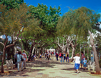 Spanien, Balearen, Ibiza (Eivissa), Santa Eulària d'Es Riu: Rambla (Flaniermeile) | Spain, Balearic Islands, Ibiza (Eivissa), Santa Eulària d'Es Riu: Rambla (Promenade)