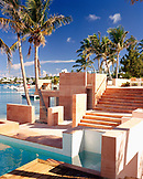 BERMUDA, Cambridge Resort, Swimming Pool of resort with palm trees