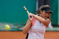 Aravane Rezai (FRA) against Polona Hercog (SLO) in the second round of the Women's Singles. Rezai beat Hercog 3-6 6-4 6-2 ..Tennis - French Open - Day 4 - Wed 27th May 2009 - Roland Garros - Paris - France..Frey Images, Barry House, 20-22 Worple Road, London, SW19 4DH.Tel - +44 20 8947 0100.Cell - +44 7843 383 012
