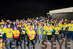 Walkers ready to set off from Rossbeigh Beach for Glenbeigh's Darkness into Light walk