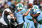 Tulane Green Wave quarterback Justin McMillan (12) in action during the Armed Forces Bowl game between the Southern Mississippi Golden Eagles vs. Tulane Green Waves at the Amon G. Carter Stadium in Fort Worth, Texas.