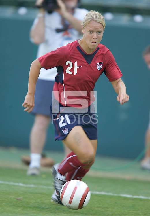 Lori Lindsey. The USA defeated Iceland, 3-0, at the Home Depot Center in Carson, CA on July 24, 2005.