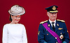 """BELGIAN ROYALS ATTEND NATIONAL DAY.Crown Princess Mathilde and her husband Crown Prince Philippe, watch the military parade on the occasion of Belgian National Day, Brussels_21/07/2012.Photo Credit: ©Alain Rolland/Newspix International..**ALL FEES PAYABLE TO: """"NEWSPIX INTERNATIONAL""""**..PHOTO CREDIT MANDATORY!!: NEWSPIX INTERNATIONAL..IMMEDIATE CONFIRMATION OF USAGE REQUIRED:.Newspix International, 31 Chinnery Hill, Bishop's Stortford, ENGLAND CM23 3PS.Tel:+441279 324672  ; Fax: +441279656877.Mobile:  0777568 1153.e-mail: info@newspixinternational.co.uk"""