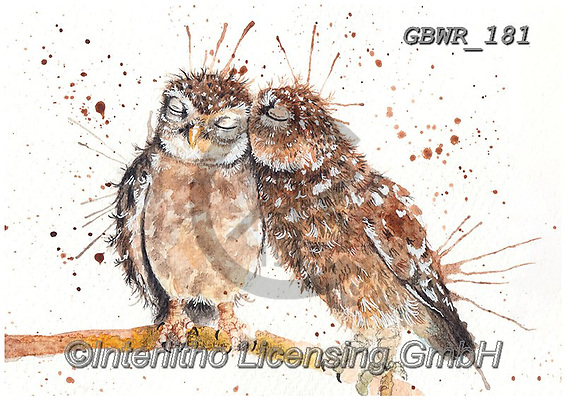 Simon, REALISTIC ANIMALS, REALISTISCHE TIERE, ANIMALES REALISTICOS, innovative, paintings+++++KatherineWilliams_SplatterLoveBirds,GBWR181,#a#, EVERYDAY