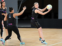 22.09.2018 Silver Ferns Michaela Sokolich-Beatson in action during Silver Ferns training in Melbourne. Mandatory Photo Credit ©Michael Bradley.