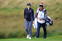 Brittany Altomare (USA) on the 1st green during Day 3 Singles at the Solheim Cup 2019, Gleneagles Golf CLub, Auchterarder, Perthshire, Scotland. 15/09/2019.<br /> Picture Thos Caffrey / Golffile.ie<br /> <br /> All photo usage must carry mandatory copyright credit (© Golffile | Thos Caffrey)
