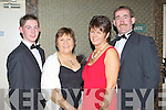 Stephen O'Halloran Killarney, Noreen Nagle Kilcummin, Kathleen and Anthony Morris Killorglin enjoying the Kingdom Hunt ball in the Killarney Oaks Hotel on Saturday night
