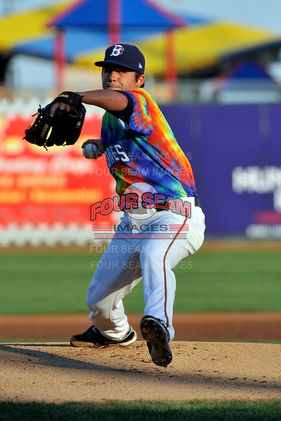 Brooklyn Cyclones pitcher Wes Wrenn (2) during game against the Aberdeen Ironbirds at MCU Park in Brooklyn, NY June 21, 2010. Cyclones won 5-2.  Photo By Tomasso DeRosa/Four Seam Images