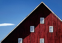 RED BARN WITH WHITE VENTS - ADIN, CALIFORNIA