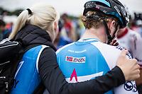 August Jensen (DEN/Isra&euml;l Cycling Academy) post race.<br /> <br /> 71th Halle Ingooigem 2018 (1.1)<br /> 1 Day Race: Halle &gt; Ingooigem (197.7km)