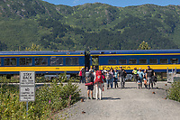 Alaska Railroad, Chugach National Forest, Alaska.