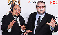 PASADENA, CA, USA - OCTOBER 10: Jorge Gutierrez, Guillermo del Toro arrive at the 2014 NCLR ALMA Awards held at the Pasadena Civic Auditorium on October 10, 2014 in Pasadena, California, United States. (Photo by Celebrity Monitor)