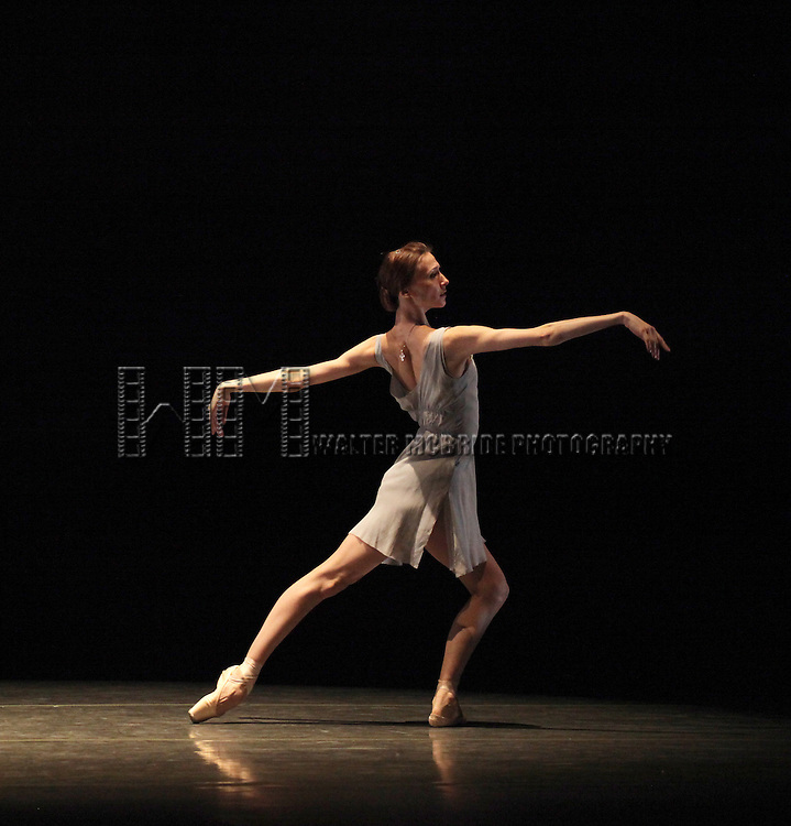 Svetlana Zakharova  from the Bolshi Ballet performing 'Distant Cries' during the rehearsal for 'Stars of the 21st Century' at the David H. Koch Theater at Lincoln Center  on October 18, 2012 in New York City.