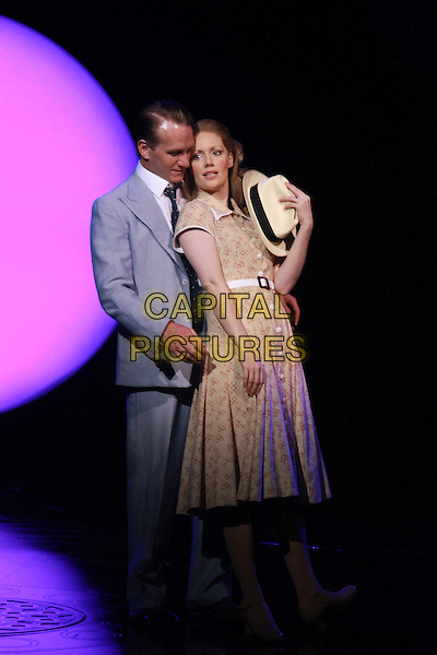 CHICHESTER, ENGLAND - AUG 19: Clare Foster as Sarah Brown &amp; Jamie Parker as Sky Masterson in the Chichester Festival Theatre production of Guys &amp; Dolls directed by Gordon Greenberg on AUgust 19th, 2014 in Chichester, England.<br /> CAP/DS<br /> &copy;Dudley Smith/Capital Pictures