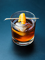A Sorghum Old Fashioned cocktail at Julep Restaurant in Denver, Colorado, Friday, July 20, 2018.<br /> <br /> Photo by Matt Nager