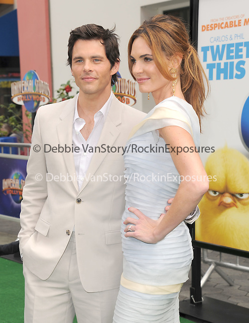 James Marsden and wife at The Universal Pictures' World Premiere of HOP held at Universal City Walk in Universal City, California on March 27,2011                                                                               © 2010 Hollywood Press Agency
