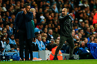 Manchester City Manager Pep Guardiola gestures to the fourth official during the UEFA Champions League Group C match between Manchester City and Dinamo Zagreb at the Etihad Stadium on October 1st 2019 in Manchester, England. (Photo by Daniel Chesterton/phcimages.com)<br /> Foto PHC/Insidefoto <br /> ITALY ONLY