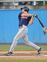 July 17, 2009: Infielder Cord Phelps (16) of the Kinston Indians, Carolina League affiliate of the Cleveland Indians, in a game against the Potomac Nationals at G. Richard Pfitzner Stadium in Woodbridge, Va. Photo by: Tom Priddy/MiLB.com