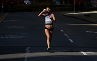 NEW YORK NY - NOVEMBER 03: A elite women runner competes during the New York City Marathon on New York City on November 03, 2019.  (Photo by Kena Betancur/VIEWpress)