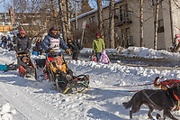 Lance Mackey on Cordova St. hill during the Anchorage start day of Iditarod 2018 on Cordova St. hill during the Anchorage start day of Iditarod 2019