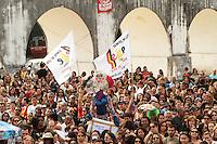 RIO DE JANEIRO, RJ, 03 SETEMBRO 2013 - GREVE PROFESSORES MUNICIPIO RJ -  Os professores do município do Rj em greve realizam uma assembleia na Lapa centro do Rio para definirem os rumos da categoria, nessa terça 03. (FOTO: LEVY RIBEIRO / BRAZIL PHOTO PRESS)