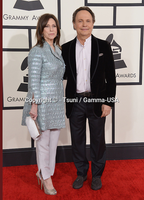 Billy Crystal and wife  arriving at the 56th Annual Grammy Awards 2014 at the Staple Center in Los Angeles.