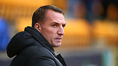3rd February 2019, McDiarmid Park, Perth, Scotland; Ladbrokes Premiership football, St Johnston versus Celtic;  Celtic Manager Brendan Rodgers watches from the touchline
