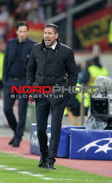 25.02.2015, Bay-Arena, Leverkusen, Championsleague, Bayer 04 Leverkusen vs. Atletico Madrid<br /> Trainer Diego Pablo Simeone (Madrid)<br /> Foto &copy; nordphoto /  Bratic