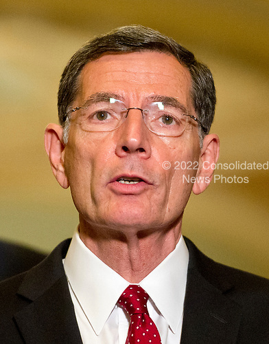 United States Senator John Barrasso (Republican of Wyoming) speaks to reporters following the Republican Party luncheon in the United States Capitol in Washington, DC on Tuesday, June 27, 2017.<br /> Credit: Ron Sachs / CNP