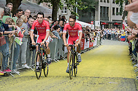 Nacer Bouhanni (FRA/Cofidis) on the Yellow Brick Road<br /> <br /> &quot;Le Grand D&eacute;part&quot; <br /> 104th Tour de France 2017 <br /> Team Presentation in D&uuml;sseldorf/Germany