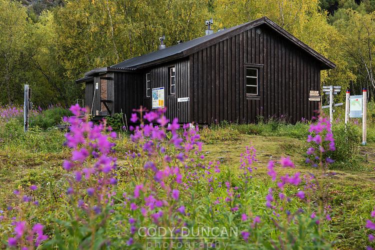 STF Teusjaure mountain hut, Kungsleden Trail, Lapland, Sweden