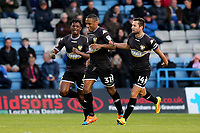 Neil Danns (No 31) celebrates scoring Bury's opening goal during Gillingham vs Bury, Sky Bet EFL League 1 Football at the MEMS Priestfield Stadium on 11th November 2017