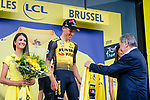 Mike Teunissen (NED) Team Jumbo-Visma wins Stage 1 and wears the first Yellow Jersey of the 106th Tour de France running 194.5km from Brusells to Brussels, 6 July 2019. Photo by Thomas van Bracht / PelotonPhotos.com | All photos usage must carry mandatory copyright credit (Peloton Photos | Thomas van Bracht)