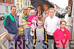 Enjoying the Terrier Racing at the Cahersiveen Festival of Music on Friday night last were front l-r; Sadhbh O'Sullivan, Tadhg O'Sullivan, Stephen Fogarty, Kiosha Fogarty, back l-r; Con O'Sullivan, Sinead O'Sullivan, Meabh Daly, Aisling O'Sullivan, Margaret O'Sullivan & Mary Fogarty.