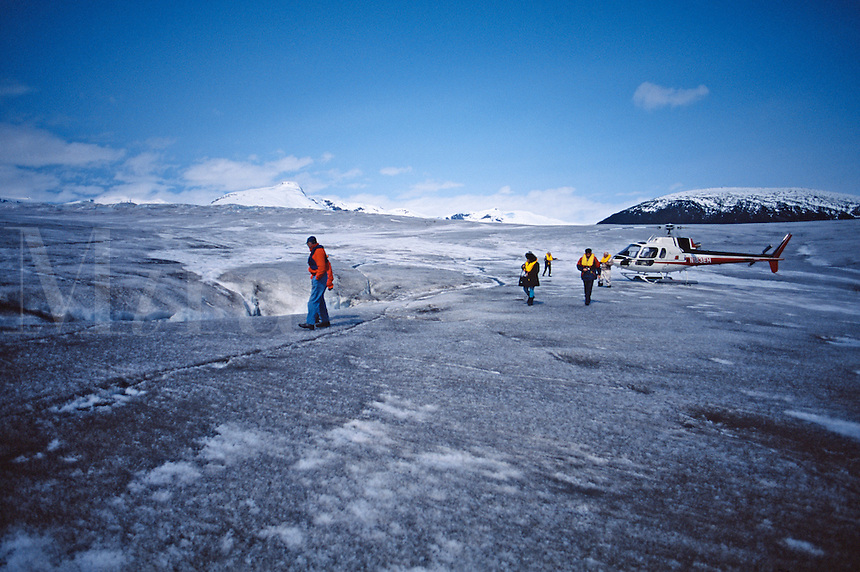 Observation of glacial revice in remote area, Alaska
