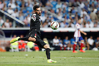 Moya of Atletico de Madrid during La Liga match between Real Madrid and Atletico de Madrid at Santiago Bernabeu stadium in Madrid, Spain. September 13, 2014. (ALTERPHOTOS/Caro Marin)