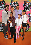 LOS ANGELES, CA. - March 27: Trey Smith, Jackie Chan, Jaden Smith, Will Smith and Willow Smith and Jada Pinkett Smith arrive at Nickelodeon's 23rd Annual Kid's Choice Awards at Pauley Pavilion on March 27, 2010 in Los Angeles, California.