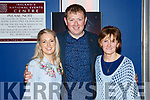 Edwina and Michael O'Rourke with Eileen Gutwin at the Oireachtas in the INEC on Saturday