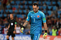 MOSCU - RUSIA, 03-07-2018: David OSPINA arquero de Colombia luce decepcionado después del partido de octavos de final entre Colombia y Inglaterra por la Copa Mundial de la FIFA Rusia 2018 jugado en el estadio del Spartak en Moscú, Rusia. / David OSPINA goalkeeper of Colombia looks disappointed after the match between Colombia and England of the round of 16 for the FIFA World Cup Russia 2018 played at Spartak stadium in Moscow, Russia. Photo: VizzorImage / Julian Medina / Cont