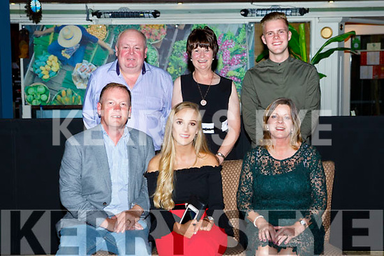 Hannah McAulliffe, Ross Road, Killarney who celebrated her 21st birthday with her family and friends in Genting Thai restaurant on Friday night front row l-r: Patrick, Hannah and Maggie McAulliffe. Back row: Jody McDonnald, Ann McCArthy and James McAulliffe